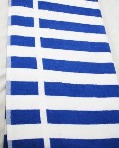 Nortex blue and white striped hospitality pool towel flat image